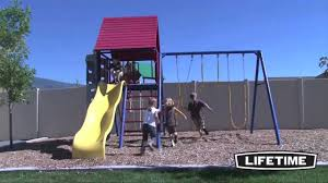 lifetime 90137 primary colors heavy duty metal playset with