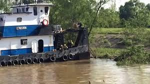 mississippi river tug boat deck hand debarking youtube