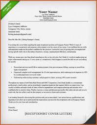 cover letter sample receptionist
