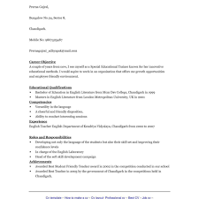 resume template english fred resumes