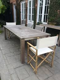 Teak And Stainless Steel Outdoor Furniture by Contemporary Teak And Stainless Steel Dining Table Mecox Gardens