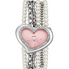 pearl bracelet watches images Guess accessories crystal pink heart pearl bracelet watch new jpg