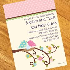 baby bird personalized invitations