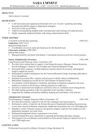 Sample Resume Administrative Support Administrative Support Resume Samples Administrative Support