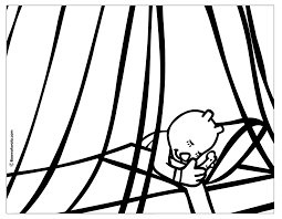 coloring bed coloring page