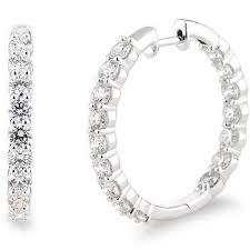 white gold diamond hoop earrings diamond hoops costco