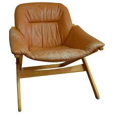Leather Captains Chairs Lounge Chair Of Leather With Maple Frame From Mobel Of Sweden