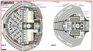 Star Trek Enterprise Floor Plans star trek blueprints steamrunner class starship prototype nx 52000