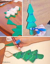 felt christmas ornaments cool kids craft onecreativemommy com