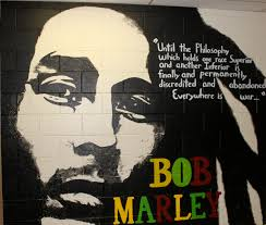 mural madness where have they gone lakebreeze publications reggae icon bob marley a famous 1970 s musician and his quote was cover in the main hallway marley has been a staple of nostalgia for the last six plus
