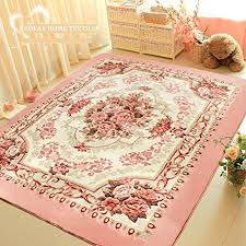 fadfay home textile romantic pink rose rug for living room elegant