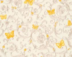 Tapeten Wohnzimmer Gelb Versace Home Vliestapete 343253