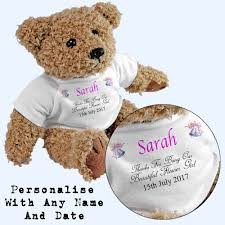 flower girl teddy gift personalised flower girl teddy add any name date