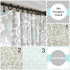 Damask Kitchen Curtains Taupe Curtain Panels Light Blue Window Curtains Damask