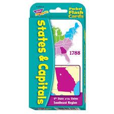 amazon com states u0026 capitals pocket flash cards toys u0026 games