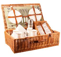 luxury picnic hampers with english wicker from amberley