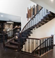amazing asian walnut hardwood floor staircase contemporary with