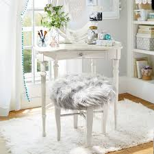 vanity chairs for bedroom himalayan glam vanity stool pbteen