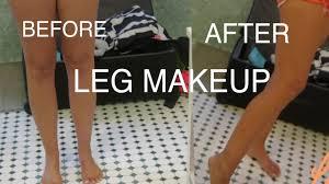 leg makeup airbrush legs sally hansen youtube