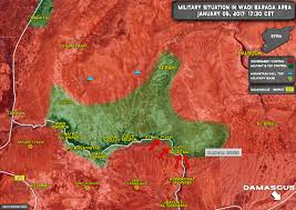 Where Is Syria Located On The Map by Terrorists Killed In Fighting In Wadi Barada Area Near Damascus