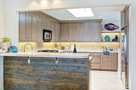 Coastal Kitchens - mixing taupe with rustic elements for a modern coastal kitchen