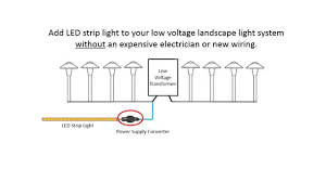 how to wire outdoor lights installing led strip lights with your low voltage landscape light