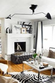 black and white living room furniture black stained wall white