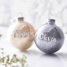 personalised glitter bauble craft and xmas