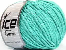 natural cotton bulky mint green at ice yarns online yarn store