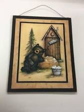 wooden country outhouse home décor plaques u0026 signs ebay