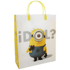 minion gift bags despicable me minion gift bag assorted gift bags at the works