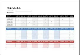 Excel Shift Schedule Template Shift Schedule Template How Shift Schedule Template Work Work