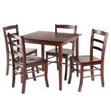 Square Dining Room Table For 4 Amazon Com Winsome Groveland Square Dining Table With 4 Chairs