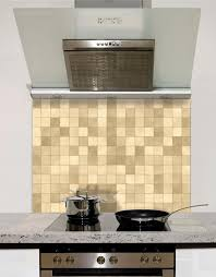 neutral mosaic glass splashback