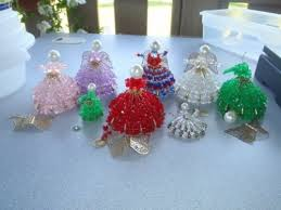 lot of 8 ornaments safety pin beaded