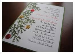 christmas wedding invitations diy christmas wedding invitations