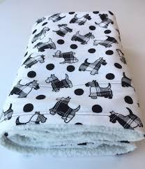 Dog Sofa Blanket Scottie Dog Blanket Pet Blanket Scotty Baby Blanket Dog Throws
