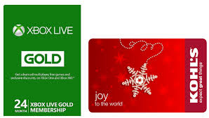 xbox 360 gift card big discounts on kohl s gift cards and xbox live 24 month gold
