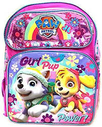 backpack paw patrol girls pup power pink 16