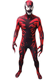 carnage morphsuit costume superhero costumes at escapade