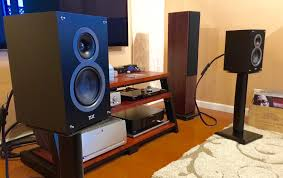 home theater system stand elac debut b5 speakers by andrew jones hi res audio demo no 2