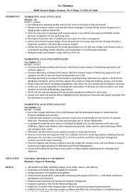 marketing analytics resume samples velvet jobs