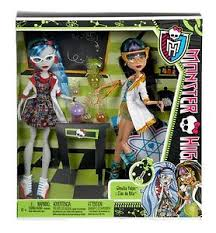 monster cleo nile u0026 ghoulia yelps mad science dolls ebay