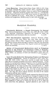 Applications Of Colorimetry In Analytical Chemistry Analytical Chemistry Journal Of The Chemical Society Abstracts