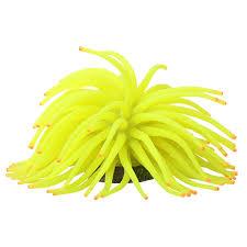 glofish glofish anemone aquarium ornament yellow aquarium coral