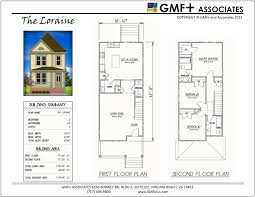 House Plans For Wide Lots Painted Ladies Series The Loraine Is A 3 Bedroom Two Story House