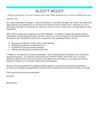 Brand Manager Cover Letter brand manager cover letter exles for marketing livecareer