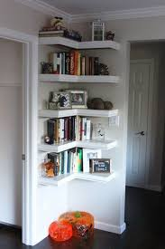 How To Build A Corner Bookcase Storage Organization Tiny Corner Shelves Rack Easy Diy Corner