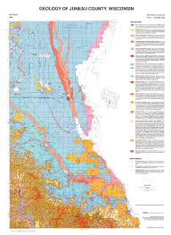 Wisconsin County Maps by Wisconsin Geological U0026 Natural History Survey Geology Of Juneau