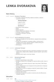 Portfolio Resume Sample by Freelance Translator Resume Samples Visualcv Resume Samples Database